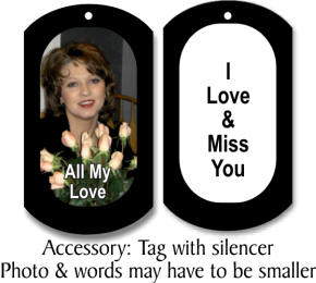 picture dog tag with silencer