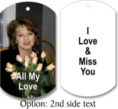 personalized picture dog tag with text