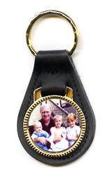 personalized leather keyfob