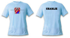 reunion t-shirt with crest and names