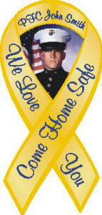 personalized yellow ribbon magnet